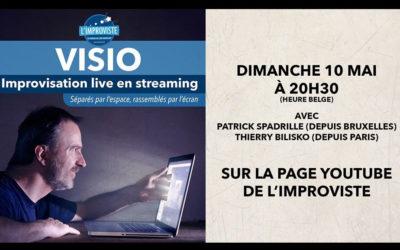 Visio, spectacle de théâtre improvisé live en streaming